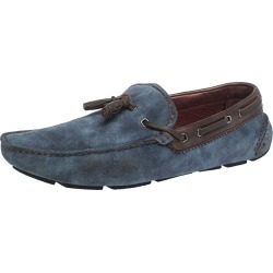 Berluti Blue Shaded Suede Loafers Size 44 found on MODAPINS from The Luxury Closet for USD $502.38