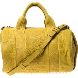 Alexander Wang Yellow Leather Rocco Duffle Bag found on MODAPINS from The Luxury Closet for USD $303.70