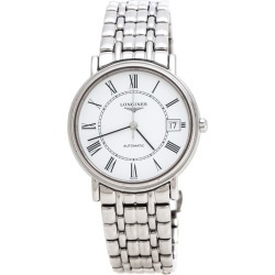 Longines White Stainless Steel Presence L4.821.4 Women's Wristwatch 34.50 mm found on MODAPINS from The Luxury Closet for USD $1270.00