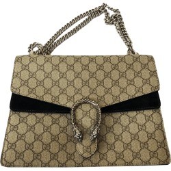Gucci Brown GG Supreme Canvas Dionysus Medium Bag found on MODAPINS from The Luxury Closet for USD $1596.00