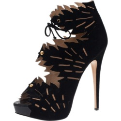 Charlotte Olympia Black Suede Eve Leaf Cutout Ankle Booties Size 40.5 found on Bargain Bro Philippines from The Luxury Closet for $1235.00