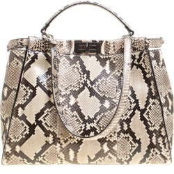 Fendi Beige Python with Suede and Python Lining Large Peekaboo Bag found on Bargain Bro India from The Luxury Closet for $4064.00
