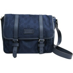 Gucci Blue Guccissima Canvas Nylon Messenger Bag found on MODAPINS from The Luxury Closet for USD $803.00