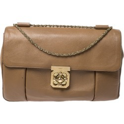 Chloe Brown Leather Elsie Large Shoulder Bag found on Bargain Bro India from The Luxury Closet for $461.17