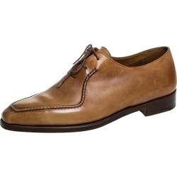 Berluti Cognac Brown Leather Stitch Detail Oxfords Size 40.5 found on MODAPINS from The Luxury Closet for USD $2495.00