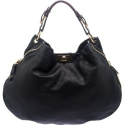 Marni Black Leather Expandable Hobo found on Bargain Bro Philippines from The Luxury Closet for $1550.00