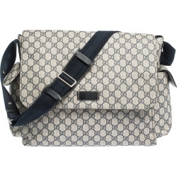 Gucci Beige/Black GG Supreme Canvas and Leather Diaper Messenger Bag found on MODAPINS from The Luxury Closet for USD $1295.00