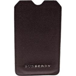 Burberry Dark Burgundy Leather IPhone Case