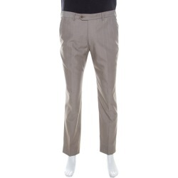 Armani Collezioni Grey Wool Blend Trousers L found on MODAPINS from The Luxury Closet for USD $177.20