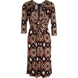 Issa Multicolor Geometric Printed Silk Jersey Draped Front Dress S found on Bargain Bro Philippines from The Luxury Closet for $147.00