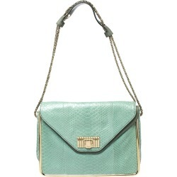 Chloe Bicolor Python and Leather Medium Sally Shoulder Bag found on Bargain Bro India from The Luxury Closet for $3395.00