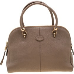 Tod's Dark Beige Leather Satchel found on MODAPINS from The Luxury Closet for USD $2040.00