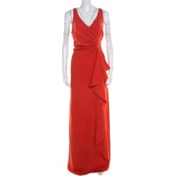 Armani Collezioni Red Ruched Sleeveless Maxi Dress L found on MODAPINS from The Luxury Closet for USD $1840.00