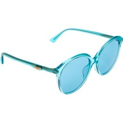 Gucci Blue Acetate GG0257SA Oversized Round Sunglasses found on Bargain Bro India from The Luxury Closet for $298.00