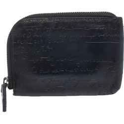 Berluti Navy Blue Wapa Scritto Leather Zipped Card Holder found on MODAPINS from The Luxury Closet for USD $478.50