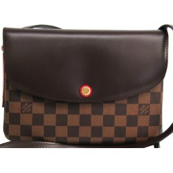 Louis Vuitton Damier Ebene Canvas Twice Shoulder Bag