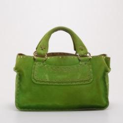 Celine Green Suede Studded Boogie Bag