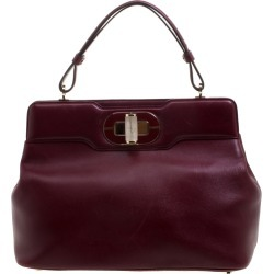 Bvlgari Burgundy Leather Isabella Rossellini Tote found on Bargain Bro Philippines from The Luxury Closet for $5740.00