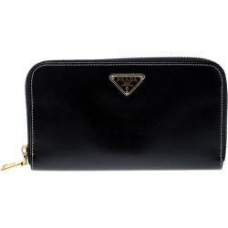 Prada Black Saffiano Vernic Leather Zip Around Wallet found on Bargain Bro Philippines from The Luxury Closet for $492.00