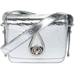 Kenzo Metallic Silver Cracked Leather Raindrop Crossbody Bag found on Bargain Bro India from The Luxury Closet for $325.89