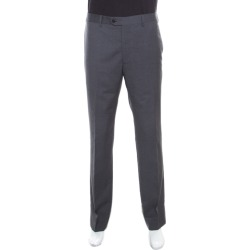 Armani Collezioni Grey Wool Tailored Trousers 4XL found on MODAPINS from The Luxury Closet for USD $305.00