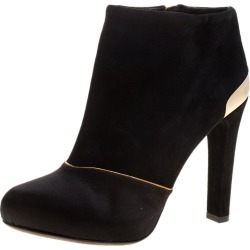 Fendi Black Suede and Satin Ankle Boots Size 37.5 found on Bargain Bro India from The Luxury Closet for $361.00