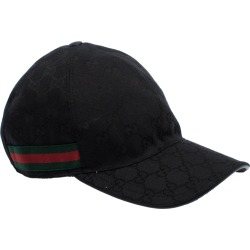 Gucci Black GG Canvas Web Trimmed Baseball Cap L found on MODAPINS from The Luxury Closet for USD $292.92