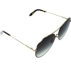 Victoria Beckham Gold Plated/Green Gradient VBS131 Loop Round Sunglasses