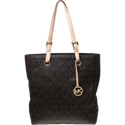 MICHAEL Michael Kors Brown Coated Canvas Jet Set North South Tote