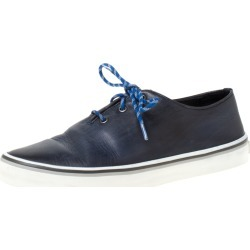 Berluti Blue Leather Lace Up Sneakers Size 41.5 found on MODAPINS from The Luxury Closet for USD $1445.00