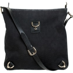 Gucci Black GG Canvas and Leather Abbey Messenger Bag found on MODAPINS from The Luxury Closet for USD $313.86