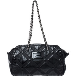 Versace Black Patent Leather Satchel found on MODAPINS from The Luxury Closet for USD $1275.00