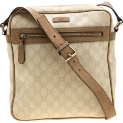 Gucci Beige GG Supreme Canvas and Leather Messenger Bag found on MODAPINS from The Luxury Closet for USD $426.65