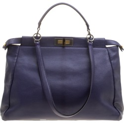 Fendi Purple Leather Large Peekaboo Top Handle Bag found on Bargain Bro India from The Luxury Closet for $1066.00