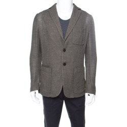 Berluti Moss Green Wool and Silk Blend Wicker Weave Blazer L found on MODAPINS from The Luxury Closet for USD $1426.70