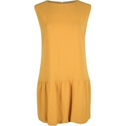 Ermanno Scervino Mustard Yellow Ruffle Bottom Sleeveless Wool Dress M found on Bargain Bro India from The Luxury Closet for $295.00