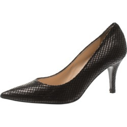 Baldinini Black Python Embossed Leather Pointed Toe Pumps Size 40 found on MODAPINS from The Luxury Closet for USD $144.05
