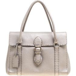 Fendi Grey Selleria Leather Linda Satchel found on Bargain Bro Philippines from The Luxury Closet for $1640.00