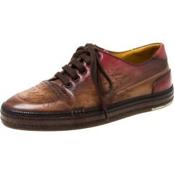 Berluti Brown Ombre Leather Playtime Low Top Sneakers Size 42 found on MODAPINS from The Luxury Closet for USD $1505.00