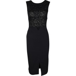 Antonio Berardi Black Lace Bodice Detail Sleeveless Fitted Dress S found on MODAPINS from The Luxury Closet for USD $1085.00