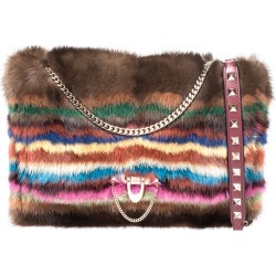 Valentino Multicolor Mink Fur and Leather Chain Shoulder Bag found on Bargain Bro India from The Luxury Closet for $1695.14