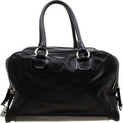 D & G Black Leather Lily Satchel
