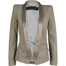 Barbara Bui Khaki Cotton Satin Trim Tailored Blazer S found on MODAPINS from The Luxury Closet for USD $187.29