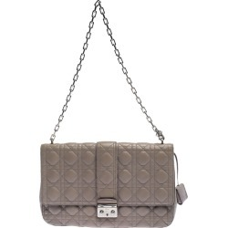 Dior Grey Cannage Leather Large Miss Dior Flap Bag found on Bargain Bro India from The Luxury Closet for $1636.20