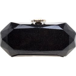 Chanel Black Glitter Leather Crystal Jewel Charm Kiss Lock Minaudière Clutch found on Bargain Bro India from The Luxury Closet for $3966.00