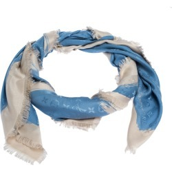 Louis Vuitton Blue Wool & Silk Monogram Arty Shawl found on Bargain Bro India from The Luxury Closet for $443.02