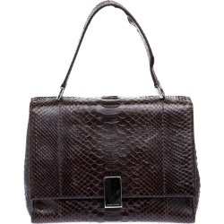 Ralph Lauren Dark Brown Python Shoulder Bag found on Bargain Bro India from The Luxury Closet for $2076.00