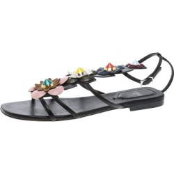 Fendi Multicolor Leather Flowerland Ankle Strap Gladiator Sandals Size 37.5 found on Bargain Bro India from The Luxury Closet for $326.00