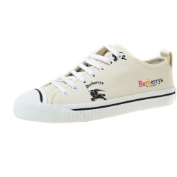 Burberry Cream Printed Canvas Sneakers Size 40