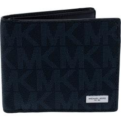 Michael Kors Navy Blue Signature Coated Canvas Bi Fold Wallet